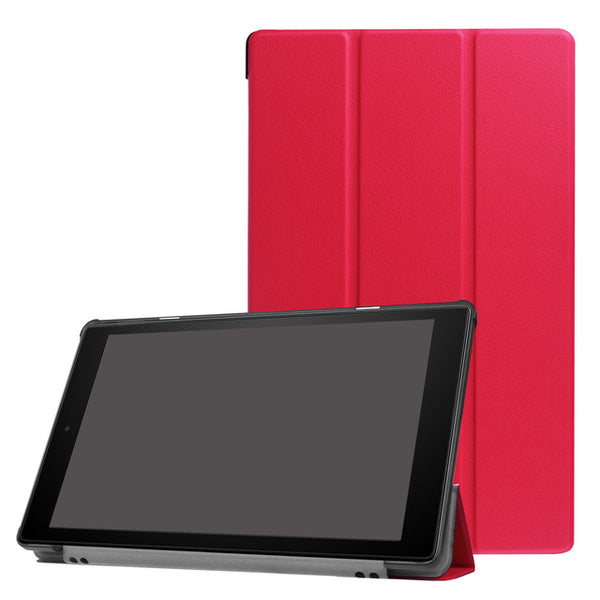 Leather Shockproof Back Stand Support Bifold Tablet Cover