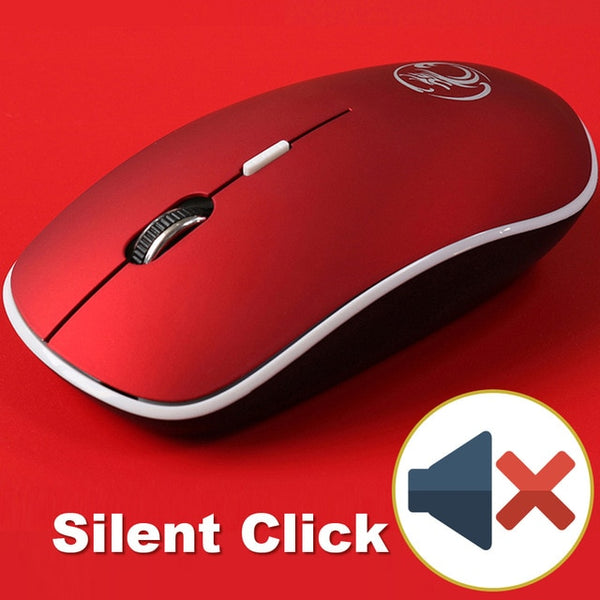 Wireless USB Silent Click Mouse With 4 Buttons and 1 Roller