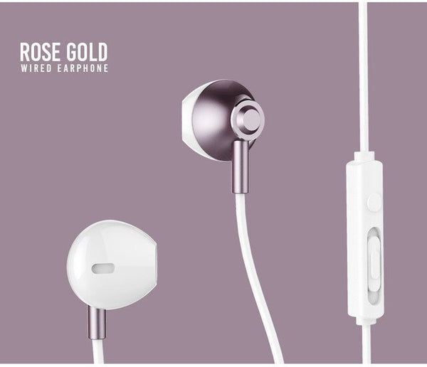 Thin Wired High Capacity Volume Button Control Earphone