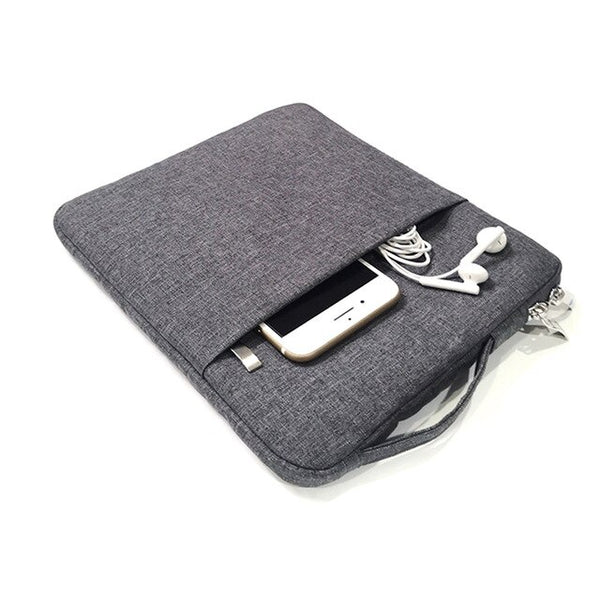 Thin Cloth Plain Shockproof Protector Tablet Zipper Case
