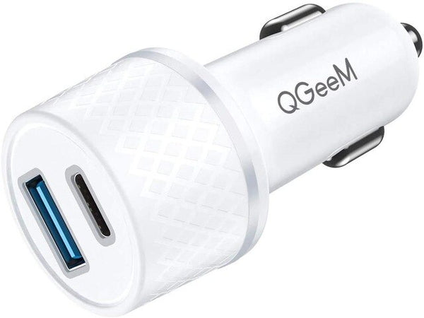 Dual USB Type-C Fast Charging 36W Adapter Car Charger
