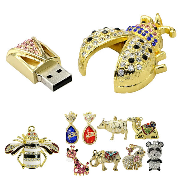 8GB to 128GB USB High Capacity Data Memory Animal Flash Drive