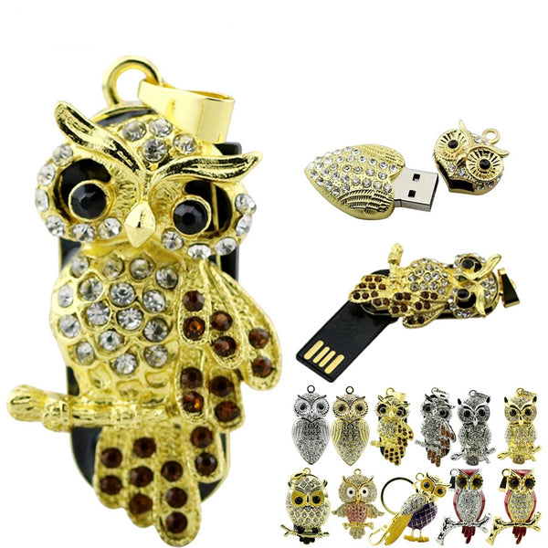 4GB to 128GB USB Alloy High Capacity Data Memory Animal Flash Drive