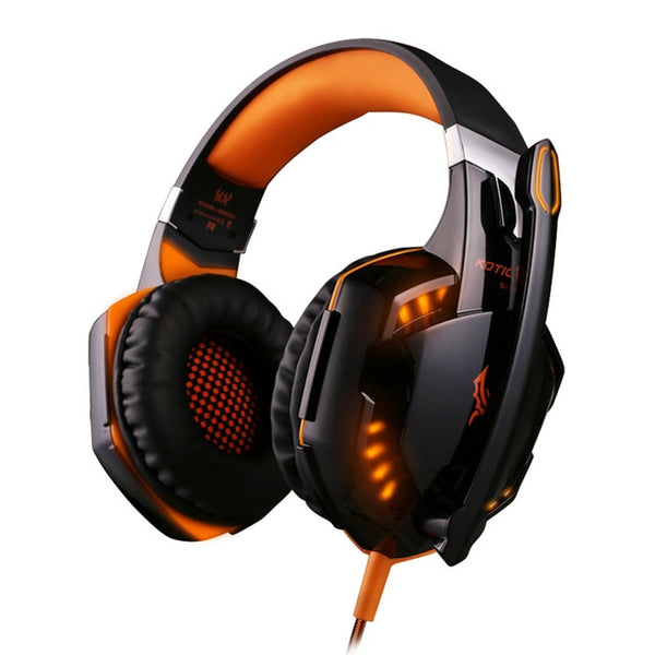 Wired LED Light Heavy Bass Stereo PC Gamer Foldable Headset