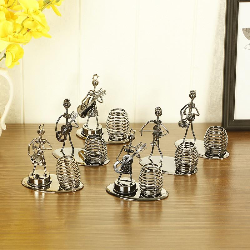 Metal Play Musical Instrument Spring Pen Stationery Holder