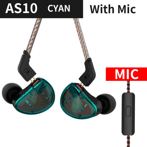 Thin Wired Noise Bass Earbuds With Mic Phone Cable