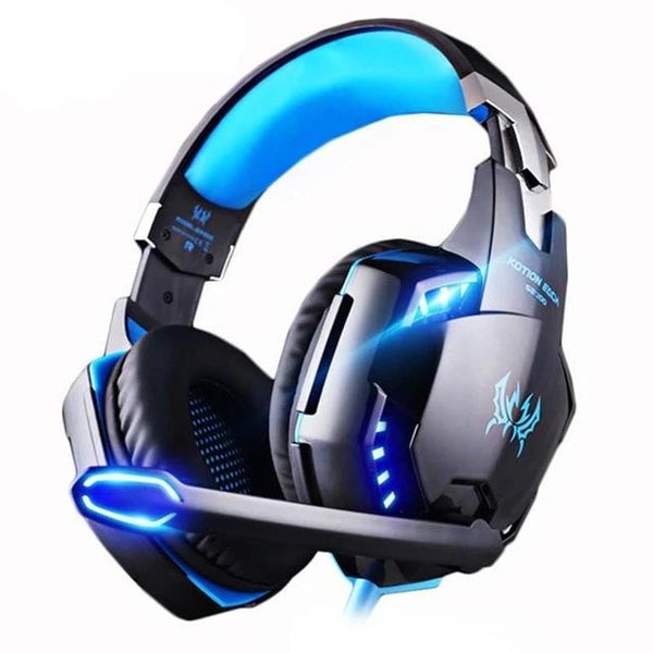 Wired LED Lighting Deep Bass Stereo PS4 PC Gaming Foldable Headset