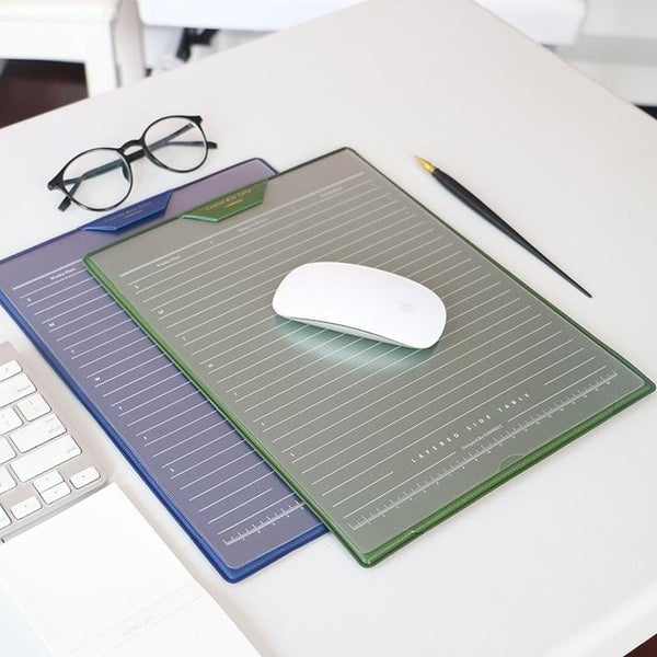 Ultra Thin Office Mouse Mat With Stationery Holder