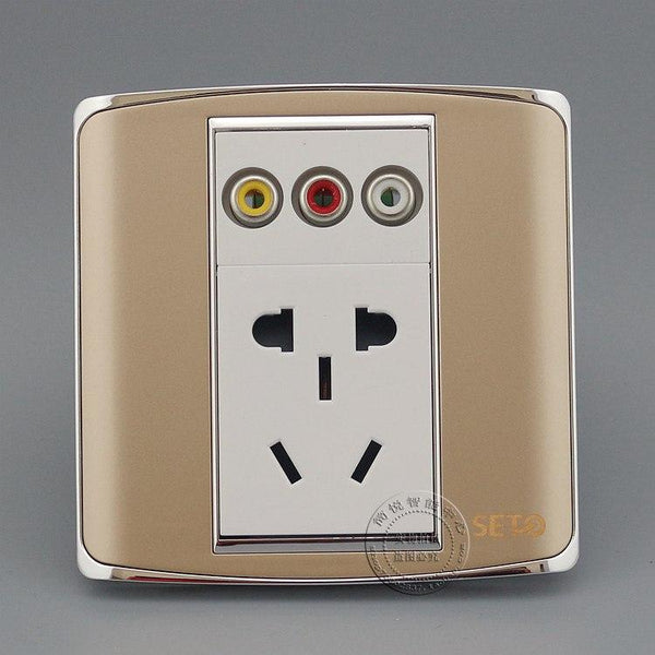 Universal Multi-Function 5 Port Power Supply Integrated Wall Socket