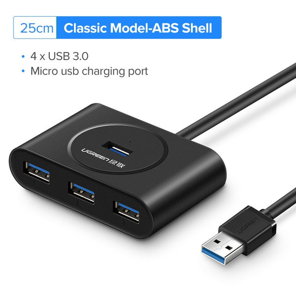 USB 3.0 Multi Splitter Port With Mirco Charger Adapter For MacBook