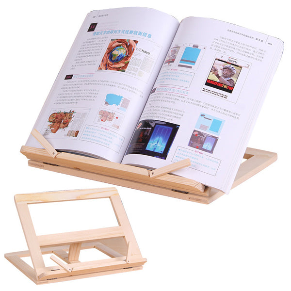 Wooden Reading Bookend Desktop Stand Support Bracket