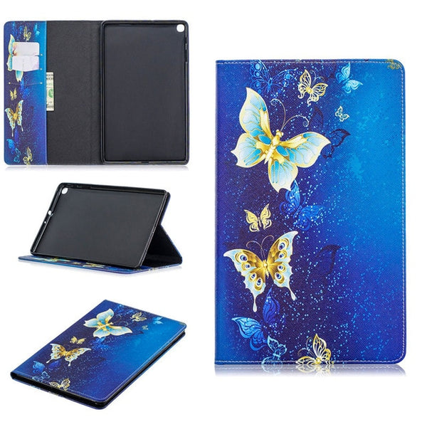 Leather Printed Anti-Slip Back Stand Bifold Tablet Protector Cover