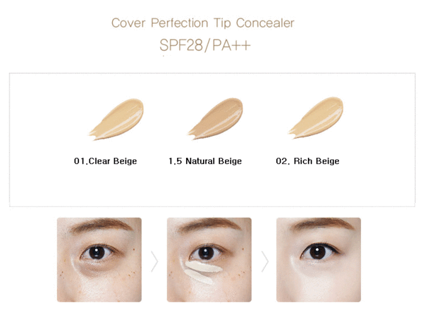 Cover Perfection Tip Concealer - TokTok Beauty