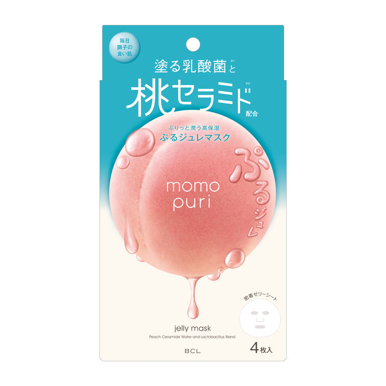 Momo Puri Jelly Mask - 1 Box of 4 Sheets