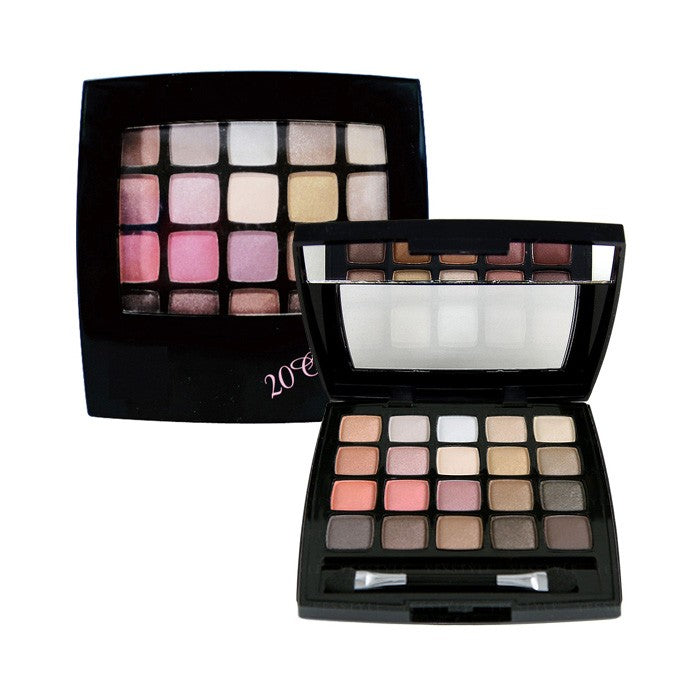 Dear Laura 20 Color Eye Shadow - Pink Brown - TokTok Beauty