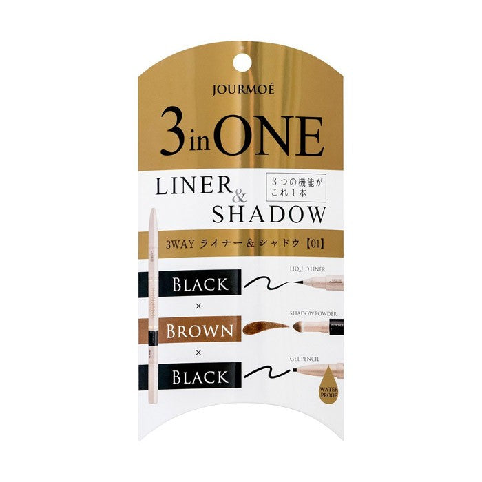 3 in One Liner & Shadow 01 Black - TokTok Beauty