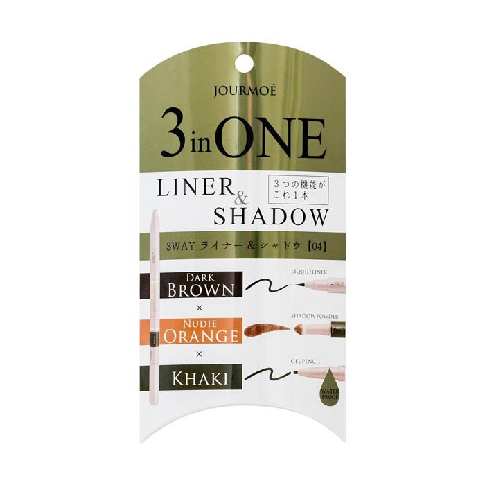 3 in One Liner & Shadow 04 Khaki - TokTok Beauty