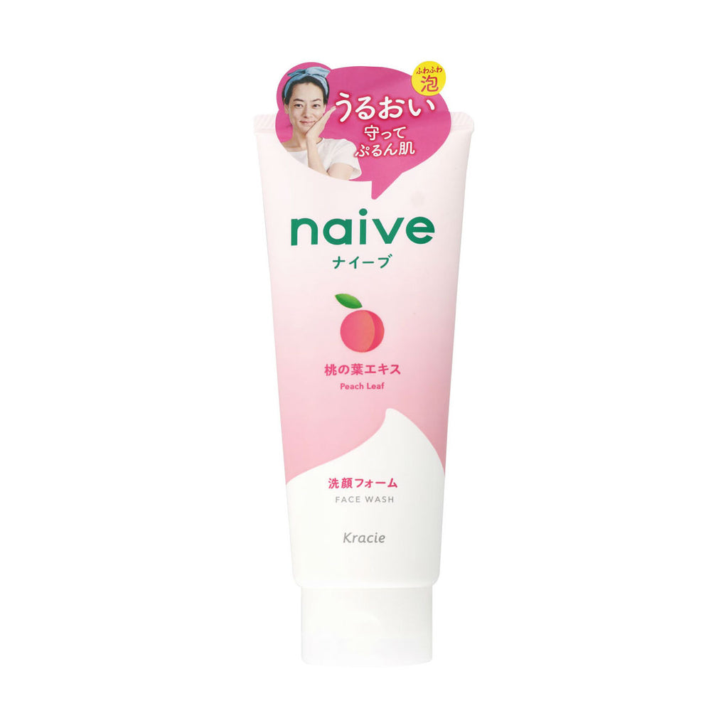 Kracie Naive Face Wash - Peach Leaf - TokTok Beauty