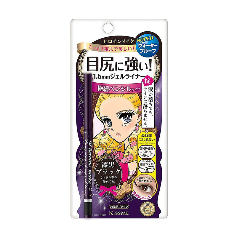 KissMe Heroine Make Long Stay Sharp Gel Liner - #01 Black - TokTok Beauty