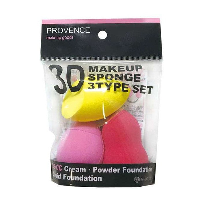 SHO-BI 3D Make Up Sponges 3 Type Set - TokTok Beauty