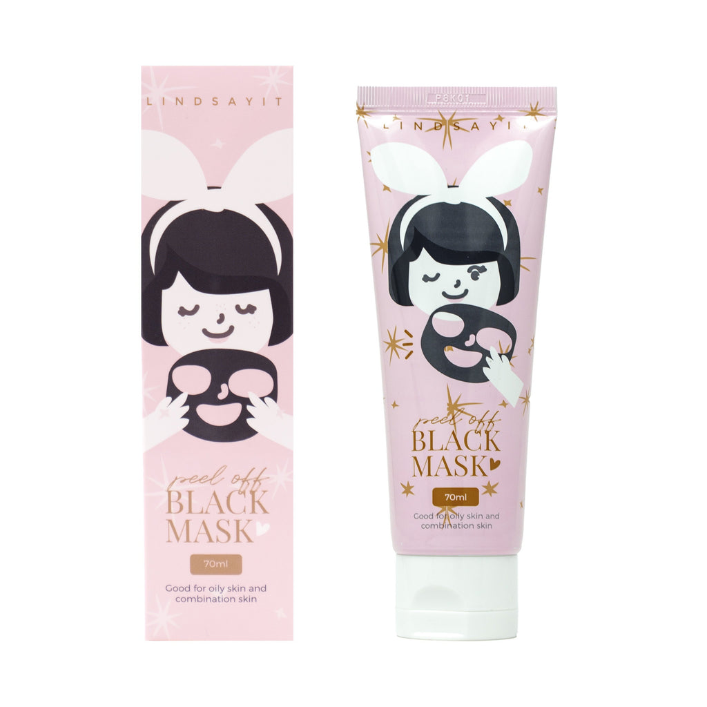 Lindsayit Peel Off Black Mask With Tools - TokTok Beauty