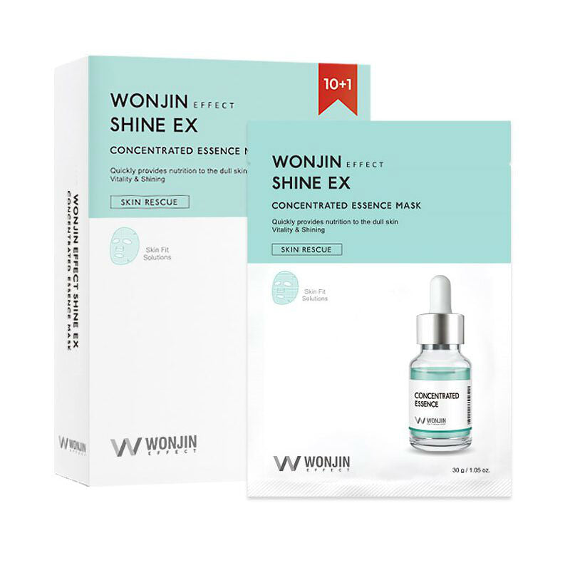 WONJIN Shine EX Concentrated Essence Mask - 1 Box of 10 Sheets - TokTok Beauty