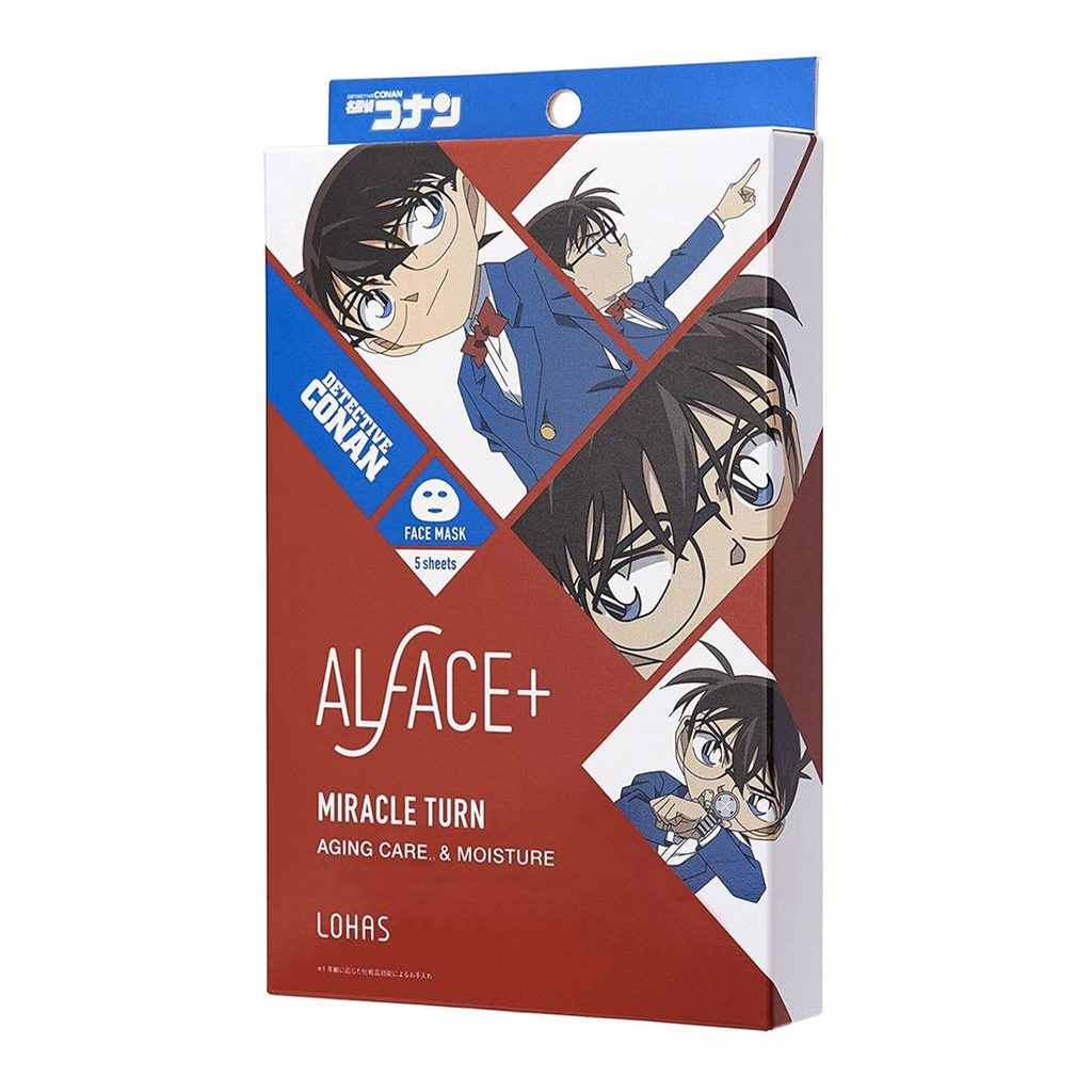Lohas ALFACE+ Detective Conan Series Mask [3 Types]- 1 Box of 5 Sheets - TokTok Beauty