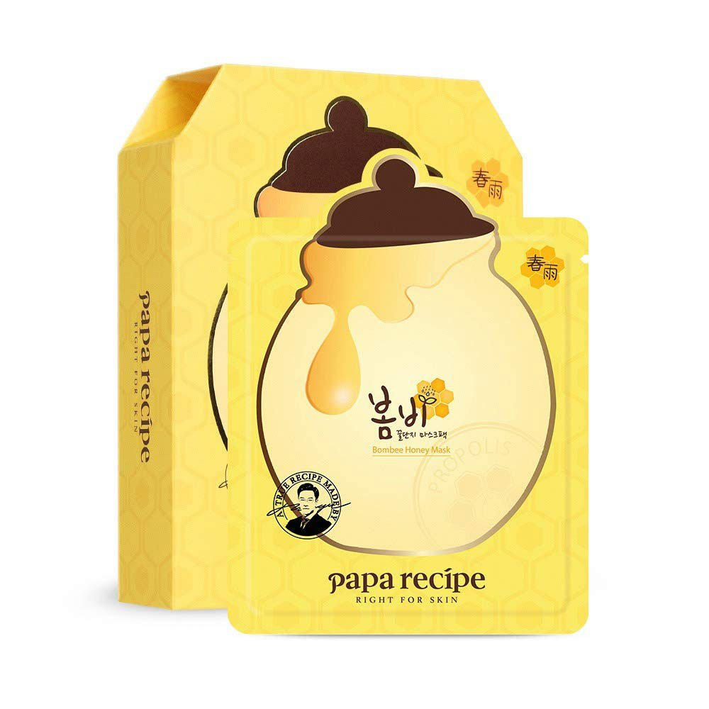 Papa Recipe Bombee Honey Mask - 1 Box of 10 Sheets - TokTok Beauty