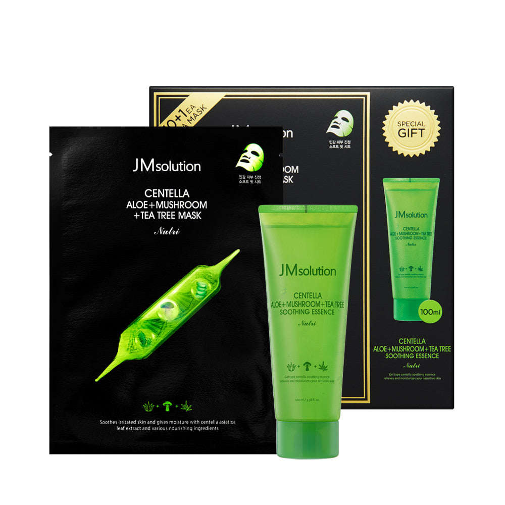 Centella Aloe + Mushroom + Tea Tree Mask - 1 Box of 11 Sheets - TokTok Beauty