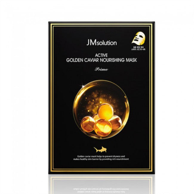 JM solution Golden Caviar Nourishing Mask - 1 Box of 10 Sheets - TokTok Beauty