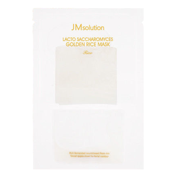 JM solution Lacto Saccharomyces Golden Rice Mask - 1 Box of 10 Sheets - TokTok Beauty