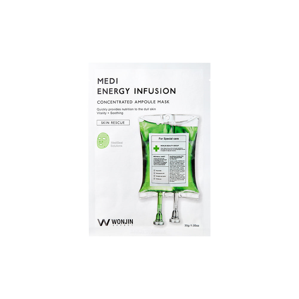 Medi Energy Infusion Mask - 1 Box of 10 Sheets - TokTok Beauty