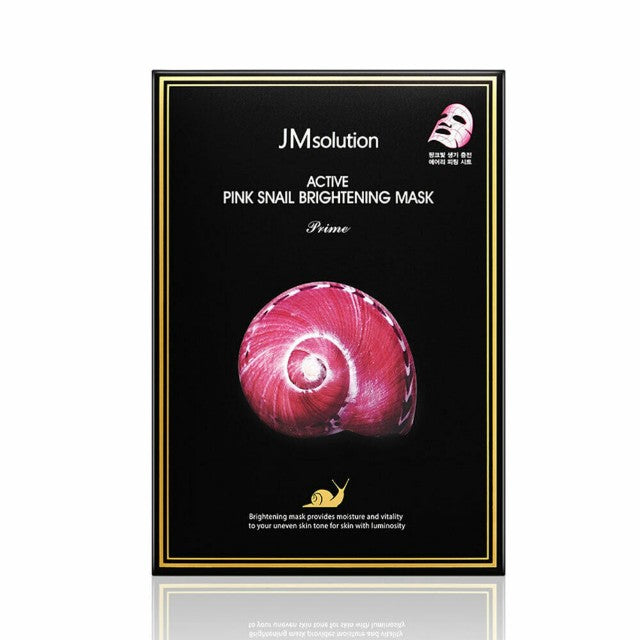 JM solution Pink Snail Brightening - 1 Box of 10 Sheets - TokTok Beauty