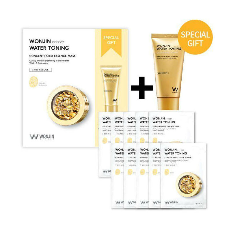 WONJIN Water Toning Concentrated Essence Mask - Gift Set - TokTok Beauty