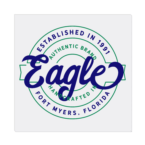iheart FGCU eagles stamp square canvas wall art