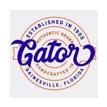 iheart UF gators stamp square canvas wall art