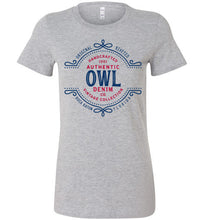 iheart FAU owls denim women's t-shirt