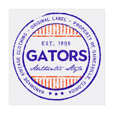 iheart UF gators stripe square canvas wall art