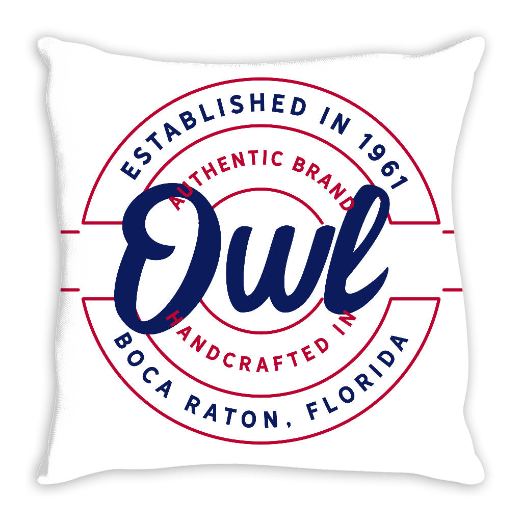 iheart FAU owls stamp and original throw pillow
