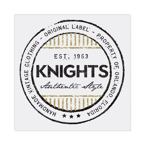 iheart UCF knights stripe square canvas wall art