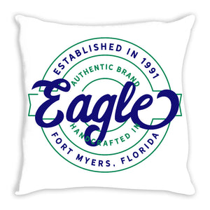 iheart FGCU eagles stamp and original throw pillow