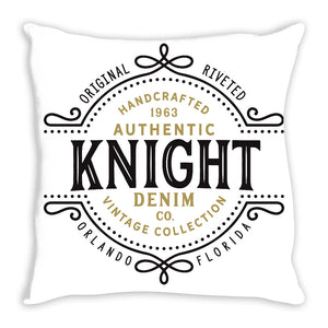 iheart UCF knights denim and stripe throw pillow