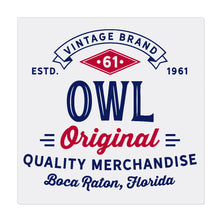 iheart FAU owls original square canvas wall art