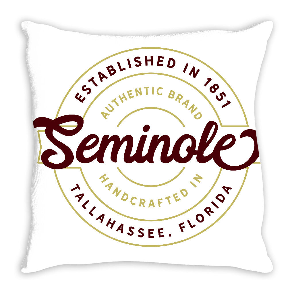 iheart FSU seminoles stamp and original throw pillow