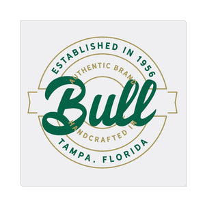 iheart USF bulls stamp square canvas wall art