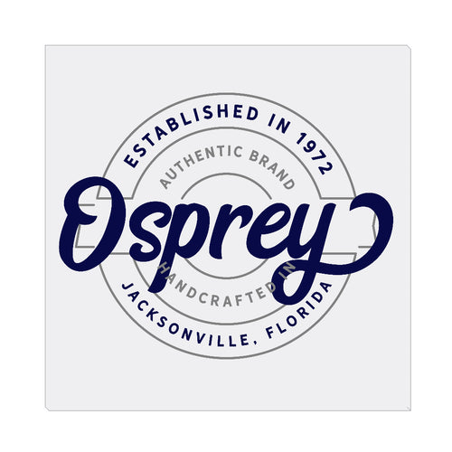 iheart UNF ospreys stamp square canvas wall art
