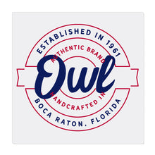 iheart FAU owls stamp square canvas wall art