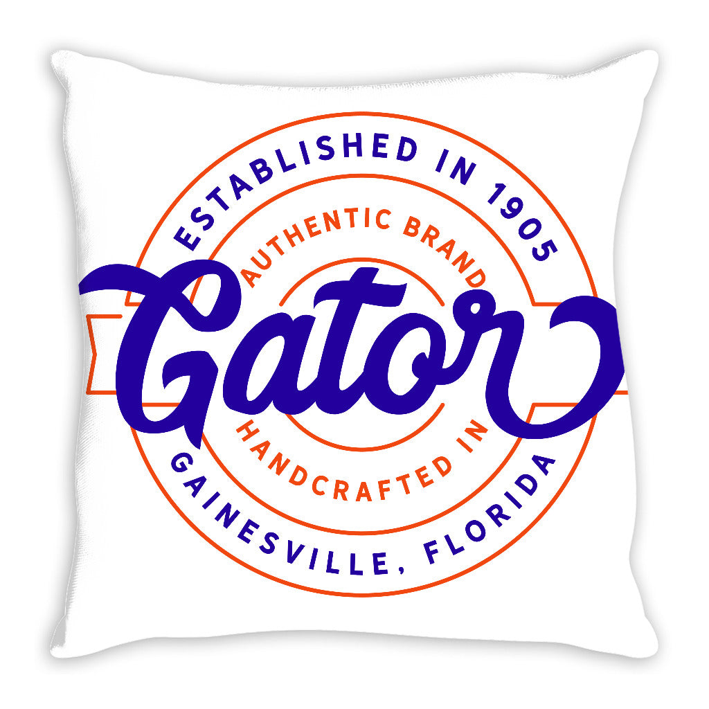 iheart UF gators stamp and original throw pillow