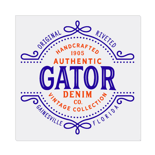 iheart UF gators denim square canvas wall art