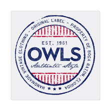 iheart FAU owls stripe square canvas wall art